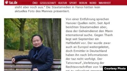 Báo Đức đưa tin ông Trịnh Xuân Thanh bị bắt cóc