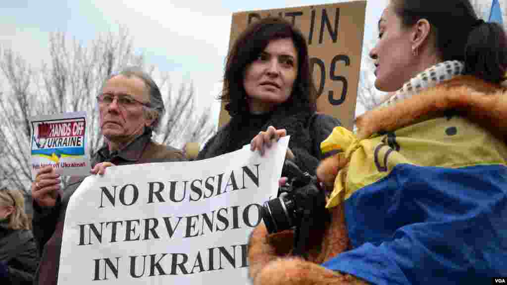 American Ukrainians protest near White House
