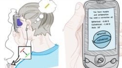 Netra is a clip-on eyepiece that works with software downloaded to a smartphone