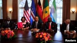 Presiden AS Barack Obama menjamu empat pemimpin Afrika, yaitu Cape Verde, Malawi, Senegal dan Sierra Leone di Gedung Putih hari Kamis (28/3).
