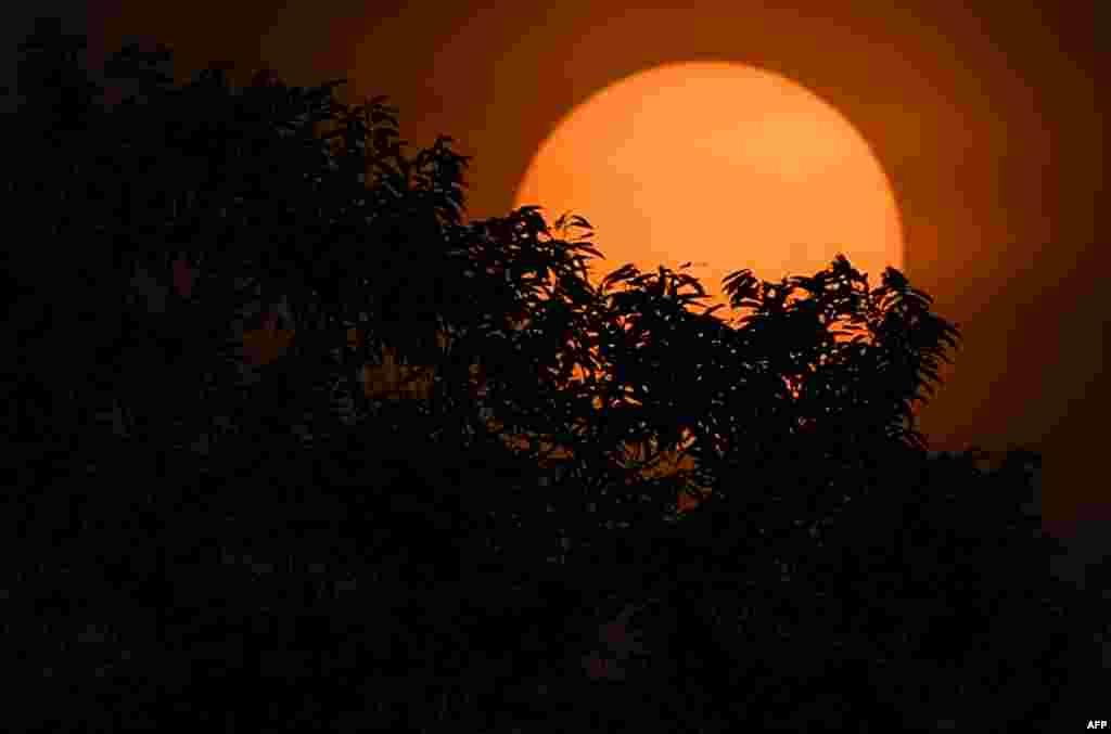 تصویری از طلوع آفتاب در حومه کوالالامپور