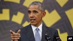 Barack Obama, conférence de presse à Lima, Pérou, le 20 novembre 2016.