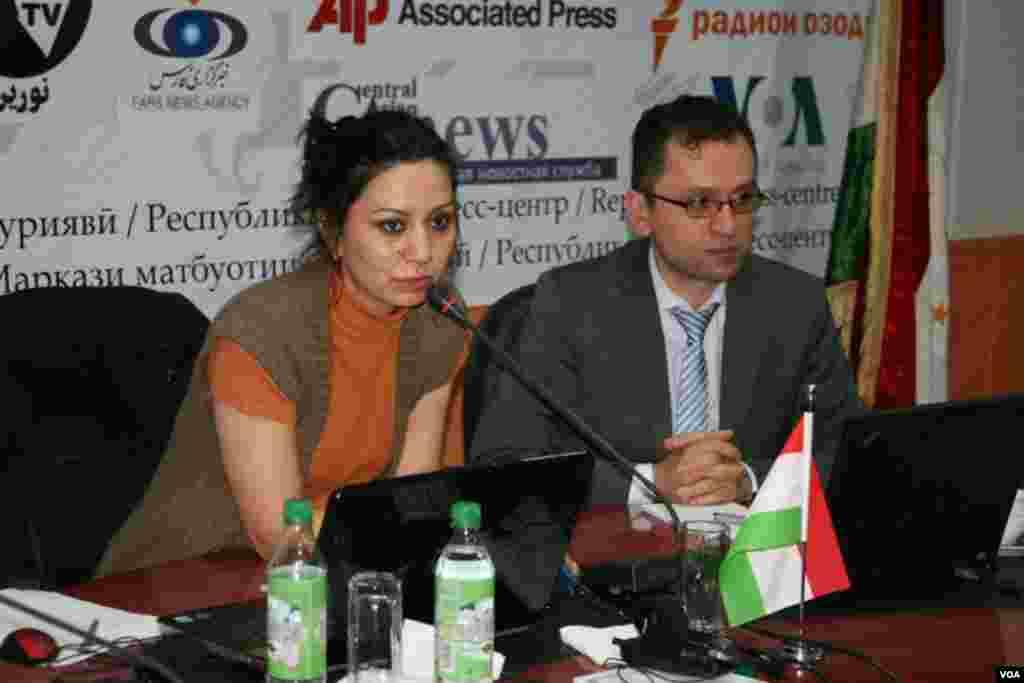 Trenerlar, Amparo faoli Dilafro'z Samadova hamda Jenevadagi Qurolli kuchlar ustidan demokratik nazorat Markazi (DSAF) eksperti Mindiya Vashakmadze.