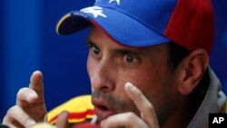 Henrique Capriles, forma parte de una mesa de diálogo entre gobierno de Venezuela y oposición, que busca encontrar una salida a la crisis política que enfrenta el país.
