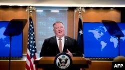 资料照:美国国务卿蓬佩奥