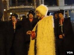2012年3月4日俄罗斯总统大选后,官方组织活动庆祝普京再次当选。莫斯科庆祝活动中的车臣人。