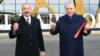 ილჰამ ალიევი და რეჯეპ ტაიპ ერდორანი, აეროპორტის გახნის ცერემონიაზე.