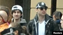 Boston Bombing Suspects Dzhokhar Tsarnaev (l) and Tamerlan Tsarnaev (image from a surveillance camera)