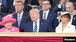 ប្រធានាធិបតីអាមេរិកលោក Donald Trump និងភរិយា ចូលរួមក្នុងទិវា D-Day ជាមួយព្រះមហាក្សត្រី Queen Elizabeth II នៅក្នុងទីក្រុង Portsmouth ភាគខាងត្បូងចក្រភពអង់គ្លេស។