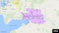 Letak wilayah Kaliningrad, Rusia