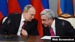 Vladimir Putin və Serj Sarkisyan