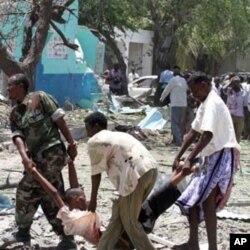 សាក្សីឲ្យដឹងថា មានសំឡេងលាន់ឡើងនៅឯអាគាររដ្ឋាភិបាលនៅតំបន់ K4 (គីឡូម៉ែត្រលេខ៤) នៃរដ្ឋធានី Mogadishu ប្រទេសសូម៉ាលី នៅពេលដែលសិស្សបានមកផ្តុំគ្នាដើម្បីប្រលង។