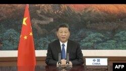 Kineski predsednik Ši Đinping putem video linka se obraća Svetskoj zdravstvenoj skupštini, 18. maja 2020.