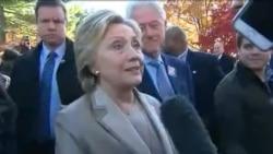 Hillary Clinton a voté (vidéo)