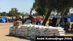 Des stocks de produits alimentaires au Tchad, le 12 septembre 2021.