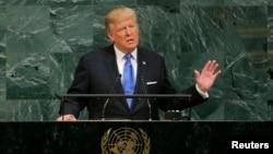 Predsednik SAD Donald Tramp obraća se Generalnoj skupštini Ujedinjenih nacija, 19. septembar 2017.