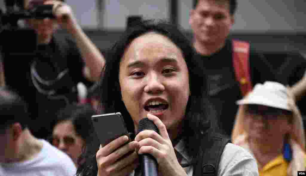 香港民陣召集人葉志衍。(美國之音湯惠芸拍攝)