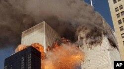 지난 2011년 9.11 테러 당시 세계무역센터 건물이 화염에 휩싸였다.