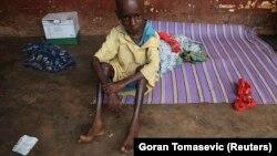 Jeune centrafricain malade à Yaloké, le 5 avril 2014.