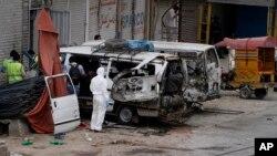 巴基斯坦旁遮普省拉合爾自殺炸彈襲擊現場(2017年4月5日)