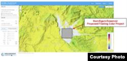 Dự án điện mặt trời nổi ở Hồ chứa Nam Ngum.
