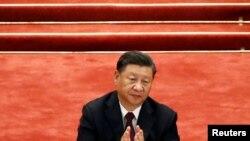 El presidente chino, Xi Jinping, durante una reunión en Beijing para elogiar a quienes luchan contra la pandemia de COVID-19, el 8 de septiembre de 2020.