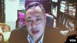 香港大学法学副教授戴耀廷(美国之音杨明拍摄 2016年2月24日)