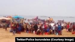 Près de 7.000 Congolais fuyant des combats entre l'armée et des rebelles dans la province du Sud-Kivu (RDC), ont traversé au Burundi, 26 janvier 2918. (Twitter/Police burundaise).