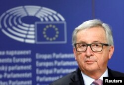 European Commission President Jean-Claude Juncker attends a news conference after the presentation a White Paper on the Future of Europe in Brussels, Belgium, March 1, 2017.
