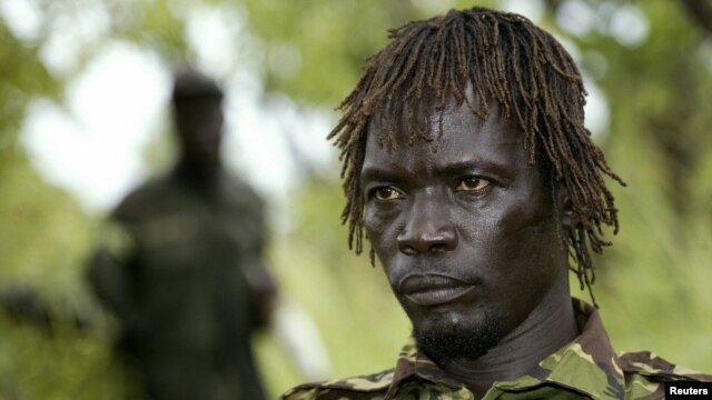 Uganda's Lord's Resistance Army (LRA) commander Caesar Achellam in Owiny Kibul, South Sudan, September 20, 2006 file photo