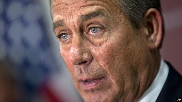 """John Boehner dijo que llegado un punto Washington tiene que hacerle frente a """"sus problemas de gastos""""."""