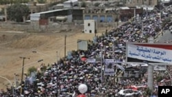به ههزاران خۆپـیشـاندهری دژه حکومهت ڕژاونهته سهر شهقامهکانی سهنعای پایتهختی یهمهن، یهکشهممه 22 ی پـێـنجی 2011