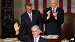 سخنرانی بنیامین نتانیاهو نخست وزیر اسرائیل در کنگره آمریکا علیه مذاکرات اتمی قدرت های جهانی با ایران - اسفند ۱۳۹۳