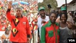Líderes da CASA-CE (Abel Chivukuvuku), MPLA (João Lourenço) e UNITA (Isaías Samakuva)
