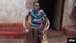 Anna Lungisani sitting taking a rest. (Photo: Safari Njema)
