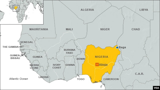 Baga, Nigeria map