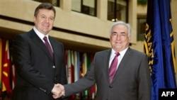 Виктор Янукович и Доминик Штраус-Кан