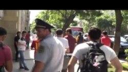Bakıda Türkiyə nümayişlərinə dəstək (Video)
