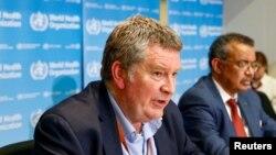 Bác sĩ Mike Ryan, Giám đốc điều hành Tổ chức Y tế Thế giới phụ trách chương trình khẩn cấp của WHO tại cuộc họp báo về virus corona ở Geneva, Thụy Sĩ, ngày 6/2/2020.