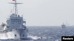 2014年5月14日中国海警船只在南中国海巡逻(资料图)