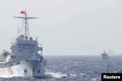 2014年5月14日中国海警船只在南中国海巡逻