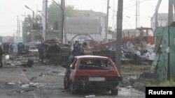 Последствия одного из терактов в Дагестане. Архивное фото.