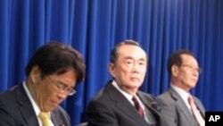 워싱턴 내셔널 프레스 클럽에서 열린 일본 의회 대표단의 기자회견