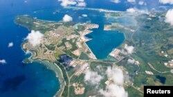 Foto udara Pangkalan Angkatan Laut AS di Guam, sebuah pulau di Samudra Pasifik yang termasuk wilayah Amerika Serikat (foto: ilustrasi).