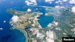 关岛美国海军基地鸟瞰