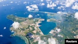 FILE - An aerial view of U.S. Naval Base Guam, Sept. 20, 2006.