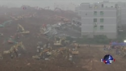中国深圳滑坡70余人仍下落不明