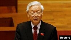 Tổng Bí thư Nguyễn Phú Trọng phát biểu tại lễ khai mạc kỳ họp thứ nhất Quốc hội khóa XIV, ngày 20/7/2016.