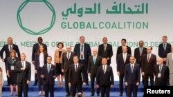 Chefes da diplomacia da coligação contra o Estado Islâmico, em Roma, Itália, 28 de Junho de 2021