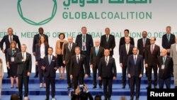 Держсекретар Ентоні Блінкен з учасниками конференції Глобальної коаліції по боротьбі з «Ісламською державою». 27 червня 2021 р